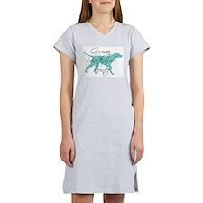 Elegant Teal GSP Dog Women's Nightshirt