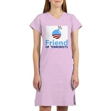 Obama Friend of Terrorists Women's Nightshirt
