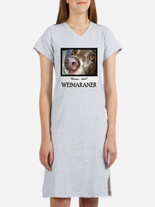 Weimaraner Women's Pink Nightshirt