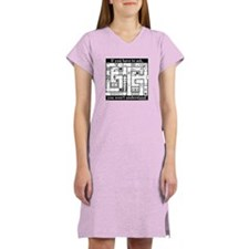 Dungeon Crawl Map - Women's Nightshirt