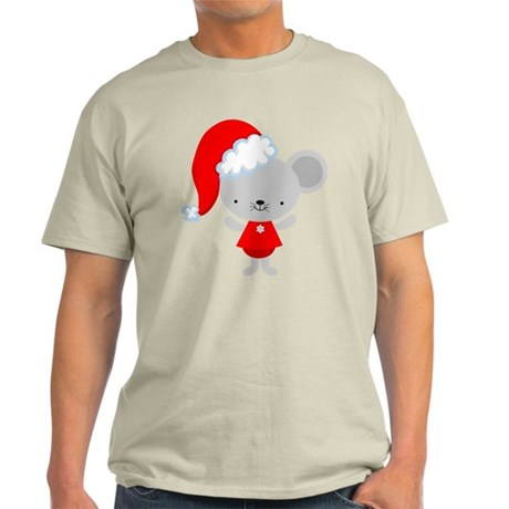 Christmas Santa Mouse Light T-Shirt