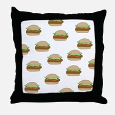 Cheeseburger Dots Throw Pillow