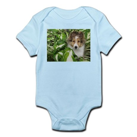 Puppy in the Leaves Infant Bodysuit