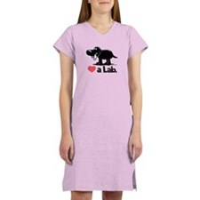 Love a Lab (Black) - Women's Nightshirt