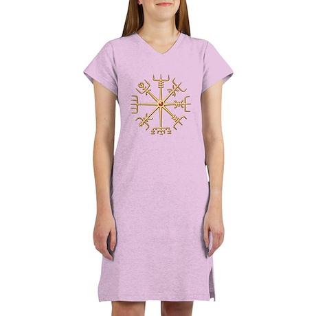 Gold Viking Compass (wide) Women's Nightshirt