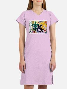 NOLA Mardi Gras Fleur de lis Women's Nightshirt