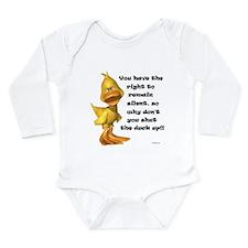 Rude Duck Long Sleeve Infant Bodysuit