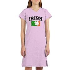 Distressed Irish Flag Logo Women's Nightshirt