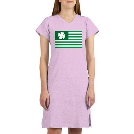 Shamrock Flag Women's Nightshirt