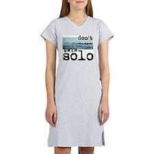 Don't Swim Solo Women's Nightshirt