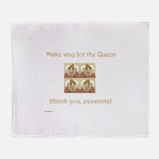Make Way for the Queen Throw Blanket