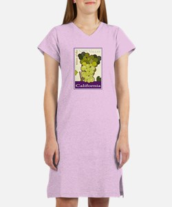 Wines of the Napa Valley, Cal Women's Nightshirt
