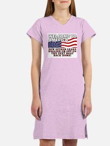 Welcome to America Women's Nightshirt