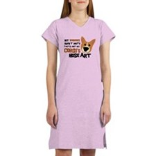 Corgi Nose Art Women's Nightshirt