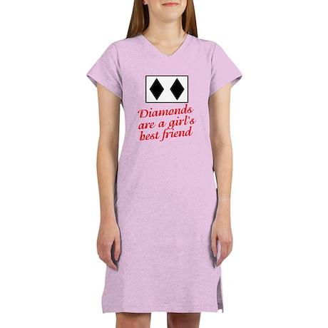 Diamonds: girl's best friend Women's Nightshirt