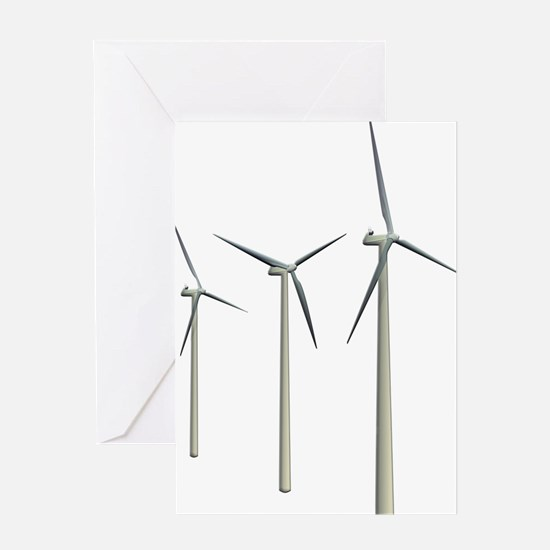 Wind Turbines Greeting Card