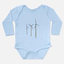 Wind Turbines Long Sleeve Infant Bodysuit