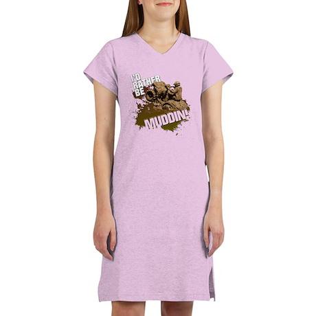 4x4 ATV Muddin Women's Nightshirt