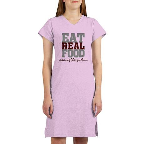 Eat REAL Food! Women's Nightshirt