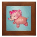 Vintage Toy Elephant Painting on Tile