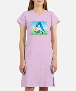 Watercolor A-Frame Women's Nightshirt