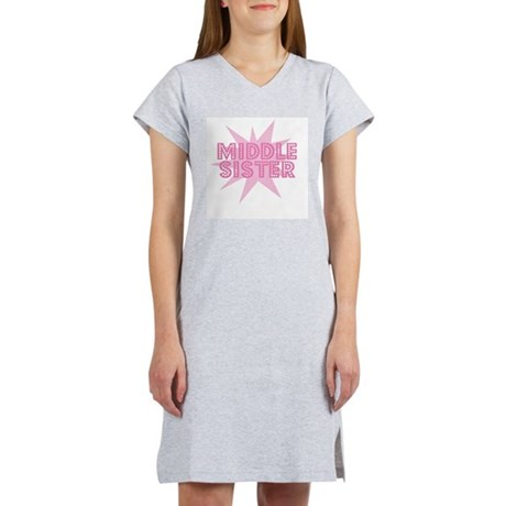Middle Sister Women's Pink Nightshirt