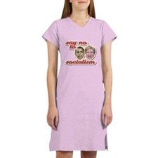 Say No To Socialism Women's Nightshirt