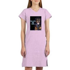 Doberman Pinscher Smiles Women's Nightshirt