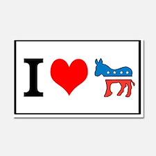 I Love Democrats Car Magnet 20 x 12