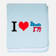 I Love Democrats baby blanket