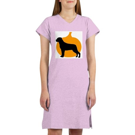 Rottweiler Halloween Women's Nightshirt