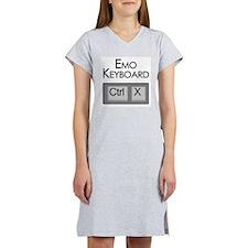 Emo Keyboard Women's Nightshirt