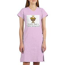 STABLE BACKGROUND Women's Nightshirt