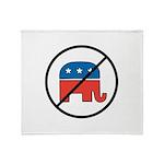 No More Republicans! Throw Blanket