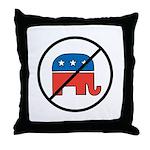 No More Republicans! Throw Pillow