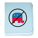 No More Republicans! baby blanket