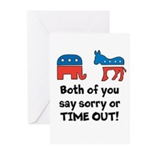 Bipartisan time out! Greeting Cards (Pk of 10)