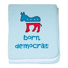 Born Democrat baby blanket