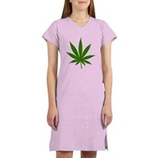 Marijuana Leaf Women's Nightshirt