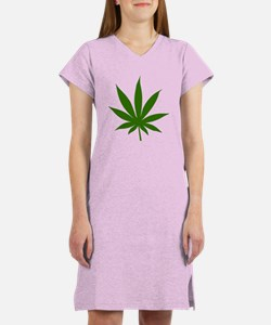 Marijuana Leaf Women's Nightshirt