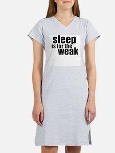 Sleep Is For The Weak Women's Pink Nightshirt