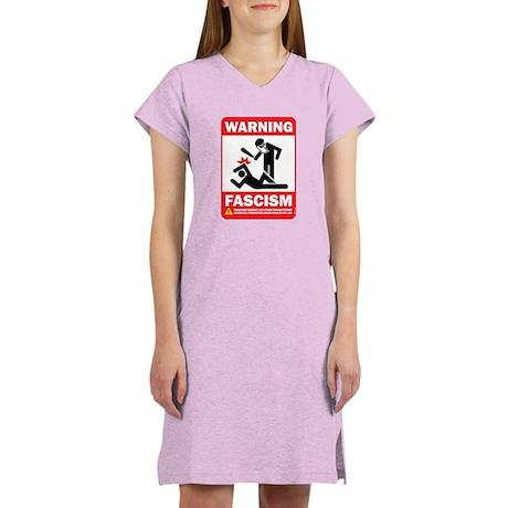 Warning fascism Women's Nightshirt