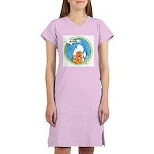Funny Dog t logo Women's Nightshirt