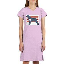 Patriotic Rottweiler Women's Nightshirt