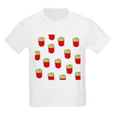 French Fries Dots Kids T-Shirt