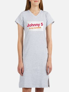 Johnny 5 Retro Robot Women's Nightshirt