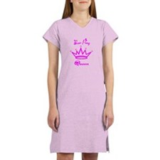Beer Pong Queen Dark Pink Women's Nightshirt