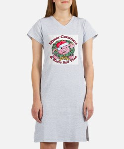 Christmas 1 Women's Pink Nightshirt