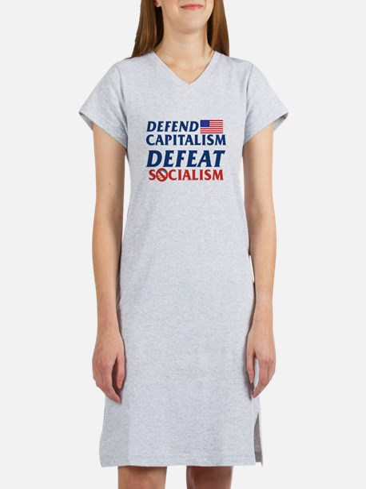 Defend Capitalism Women's Nightshirt