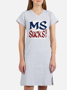 MS Sucks! Women's Pink Nightshirt